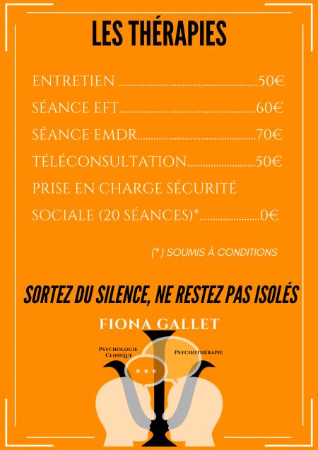 Tarifs Psychologue Marseille 13011 Fiona GALLET